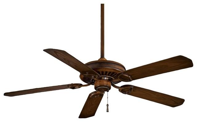 "Traditional 54"" Minka Aire Walnut Sundowner ENERGY STAR Ceiling Fan traditional-ceiling-fans"
