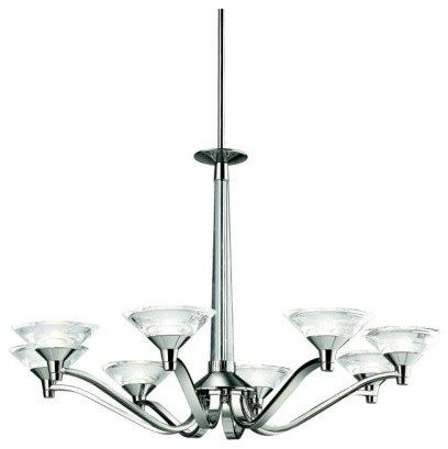 Kichler Lighting Kichler Baraga 42023PN Chandelier - 31.5 in. - Polished Nickel contemporary-chandeliers