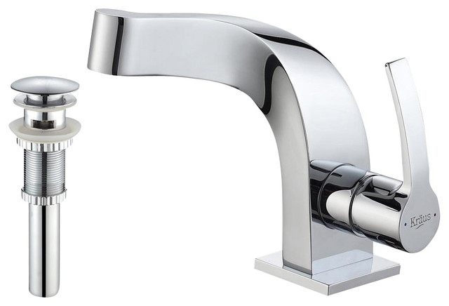 Kraus Plumbing Fixtures : Kraus Typhon Single Lever Basin Faucet - Traditional - Kitchen Faucets ...