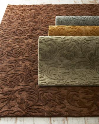 Tonal Vines Runner traditional-rugs