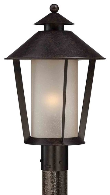 Quoizel and9012kg anderson kingsley outdoor post light for Houzz rustic lighting
