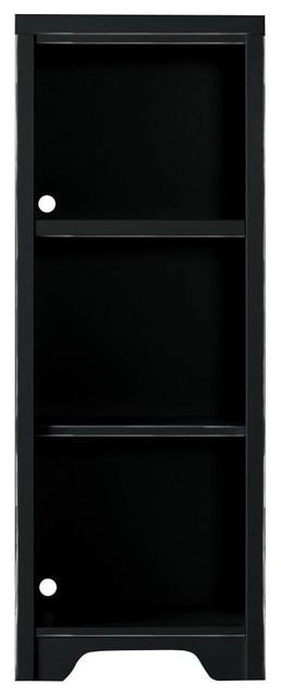 Dana Low Bookcase - Black Vintage Weathered Finish transitional-storage-cabinets