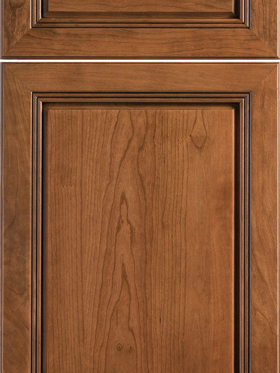 """Dura Supreme Cabinetry - Dura Supreme Cabinetry Marquis Excel Cabinet Door Style - Dura Supreme Cabinetry """"Marquis Excel"""" cabinet door style in Cherry shown with Dura Supreme's """"Henna"""" stain with """"Charcoal"""" Glaze finish."""