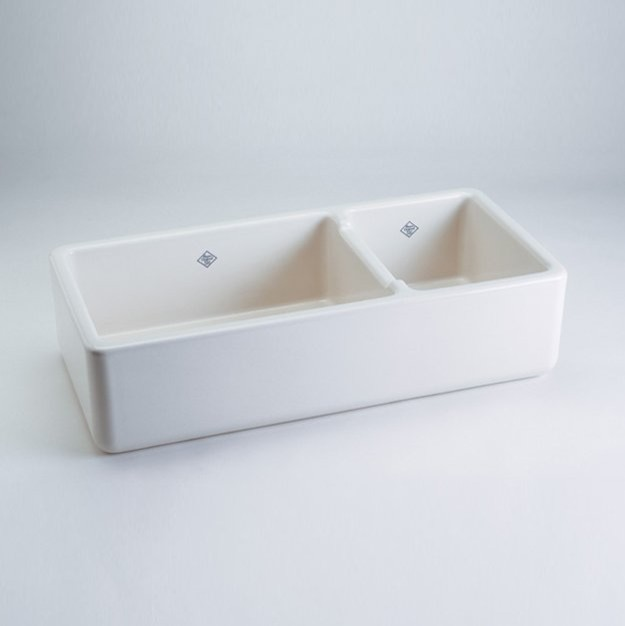 White Apron Sink : Shaws Rutherford Bowl Apron Kitchen Sink - Eclectic - Kitchen Sinks ...
