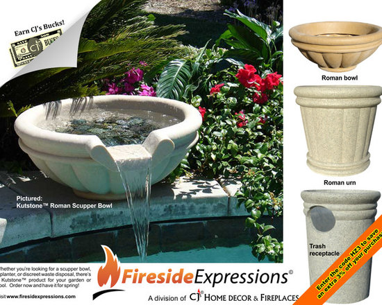 Kutstone - Pool accessories - Need a concrete, reinforced concrete, or composite stone planter or scupper bowl for this year's projects? Order now and have it custom made in time for spring!