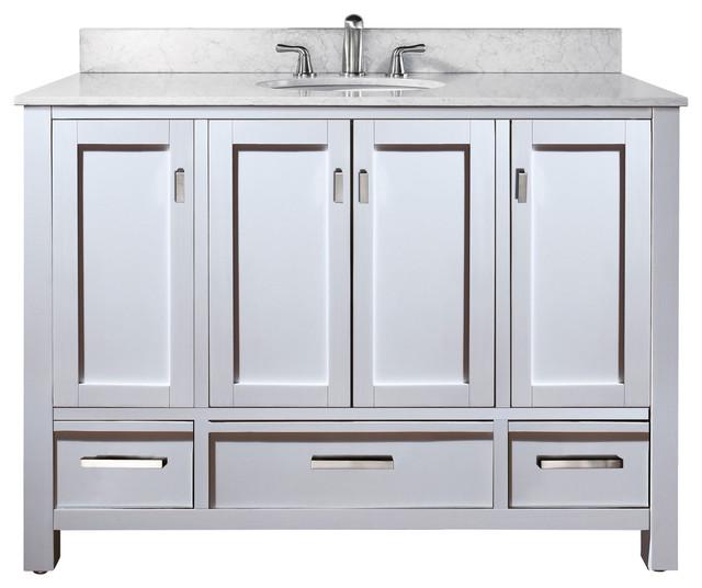 "48"" Toscana Single Bath Vanity - White traditional-bathroom-vanities-and-sink-consoles"