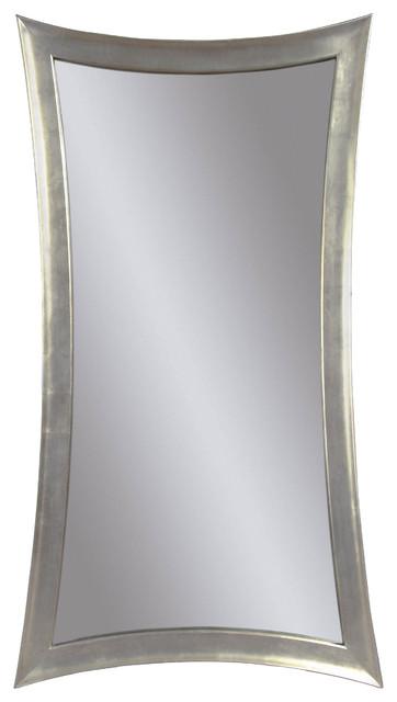 Modern Silver Floor Mirror modern-mirrors
