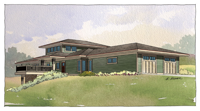 Prairie style contemporary grand rapids by for Contemporary prairie style homes