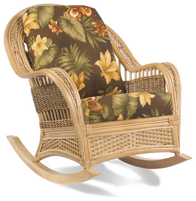 Rattan Rocker: Tropical Breeze tropical-furniture