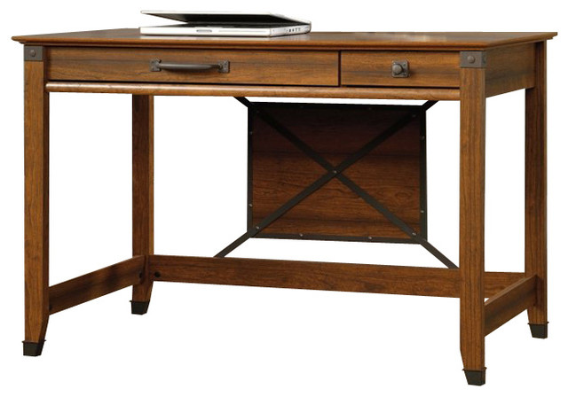 Carson Forge Writing Desk Washington Cherry Farmhouse