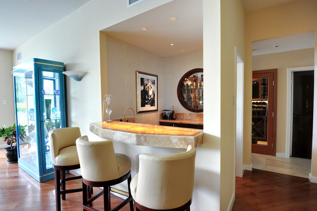 Custom Bar - living room - los angeles - by Fran Kerzner- DESIGN ...