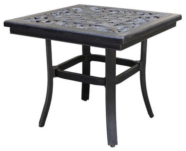 Thomasville Tables Messina 21 in Patio Side Table FG MN21STBL Contemporary