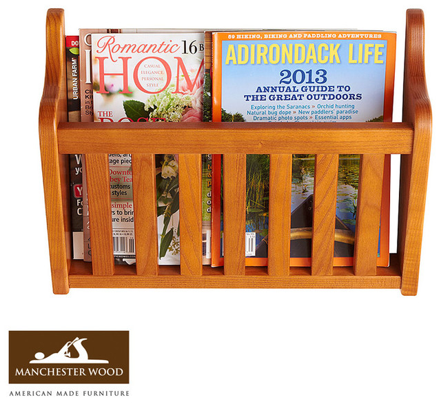 Wall magazine rack by manchester wood traditional for Houzz magazine