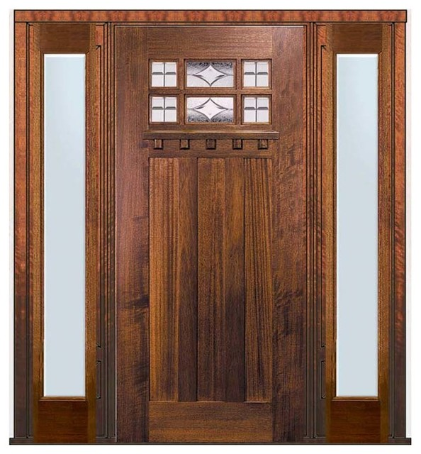 Prehung sidelights door 80 wood mahogany craftsman 6 lite Prehung exterior door with sidelights