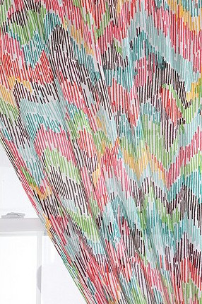 Chevron Patterned Curtain eclectic curtains