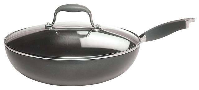 "Anolon Advanced 14"" Covered Wok,http://www.ekitchenworld.com,The bowl-like shape traditional-cookware"