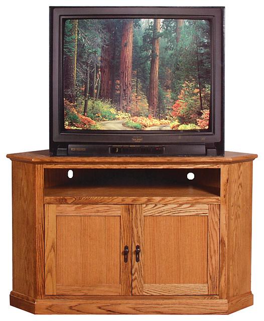 Mission Large Corner TV Stand Unfinished Alder - Craftsman - Media Cabinets - by Oak Arizona