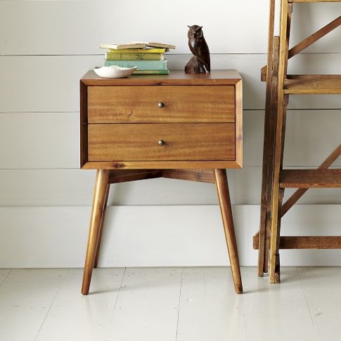 Midcentury Nightstand Wood Midcentury Nightstands And