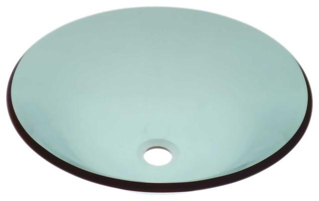 Vessel Sinks Green Glass Sweet Pea Hat Shape Vessel Sink modern-bathroom-sinks