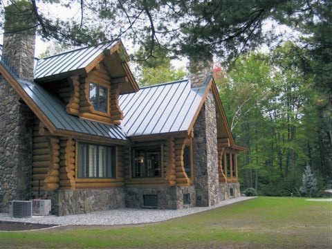 Modern elegance with rustic charm traditional exterior for Rocky mountain home builders