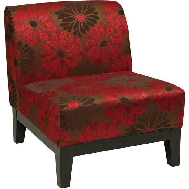 Glen Chair In Groovy Red Modern Armchairs And Accent
