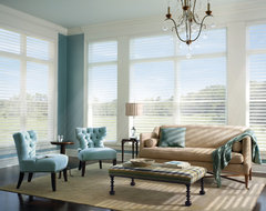 Silhouette® window shadings with UltraGlide® traditional-cellular-shades