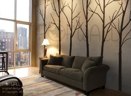 Art Wall Decals Wall Stickers Tree Decal Winter Trees by Nou Wall contemporary-wall-decals