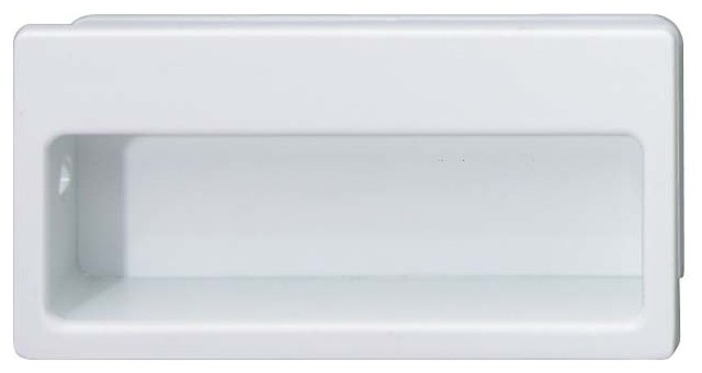 Hafele 129.57.701 White Flush Pulls - Traditional - Cabinet And Drawer Handle Pulls - by Simply ...