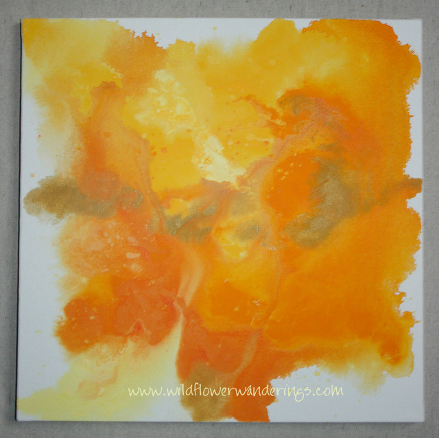 Orange Abstract Art ~ Acrylic Painting ~ On Canvas ~ Hand Signed eclectic-artwork