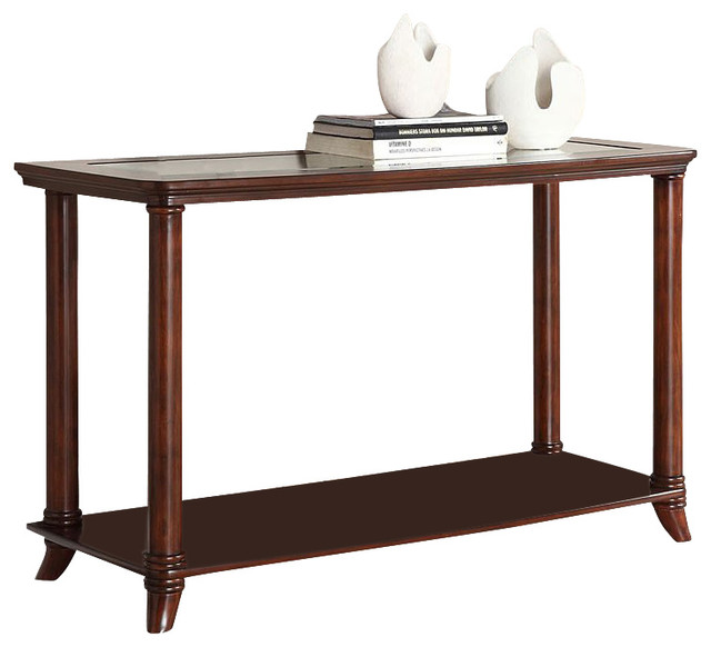 Westerville sofa table cherry by furniture of america for 10 spring street console table