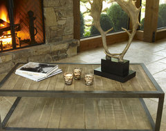 Aspen Rustic Wood Coffee Table eclectic coffee tables