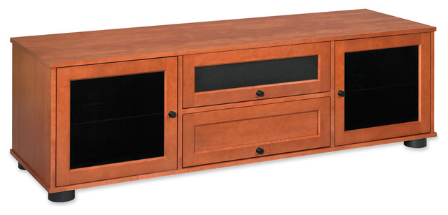"Standout Designs Majestic 70"" Solid Wood TV Console for Most Flat TVs to 75"" contemporary-media-storage"