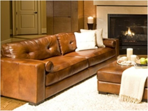 Soho Top Grain Leather Sofa in Rustic traditional-sofas
