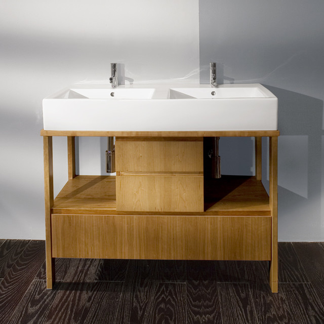 Lacava Aquamedia 42 1/2 Double Bowl Vanity modern bathroom vanities and sink consoles