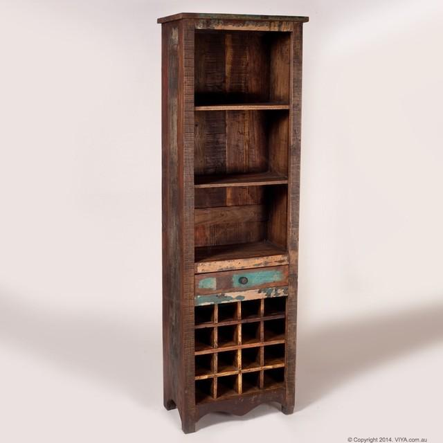 Temple Vintage Wine Rack Reclaimed Wood Rustic