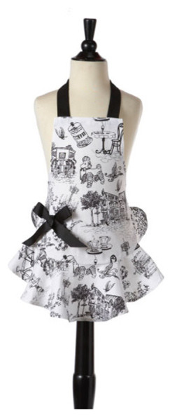 Josephine Cafe Toile Apron traditional-aprons