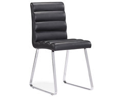 Zuo Banana Chrome and Black Dining Chair contemporary dining chairs and benches