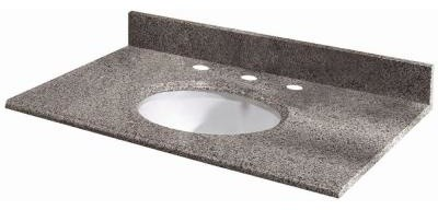 Pegasus 49 in. W Granite Bathroom Vanity Top with White Bowl and 8 in. Faucet Sp contemporary-bathroom-vanities-and-sink-consoles