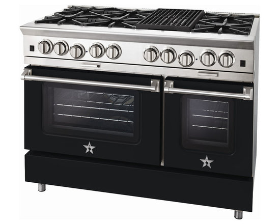 "BlueStar Platinum Series: 48"" Range - 48"" BlueStar Platinum Range in Jet Black (RAL 9005)"