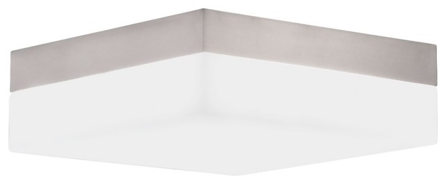 """Square Collection 9"""" Wide Ceiling/Wall Light Fixture contemporary-flush-mount-ceiling-lighting"""