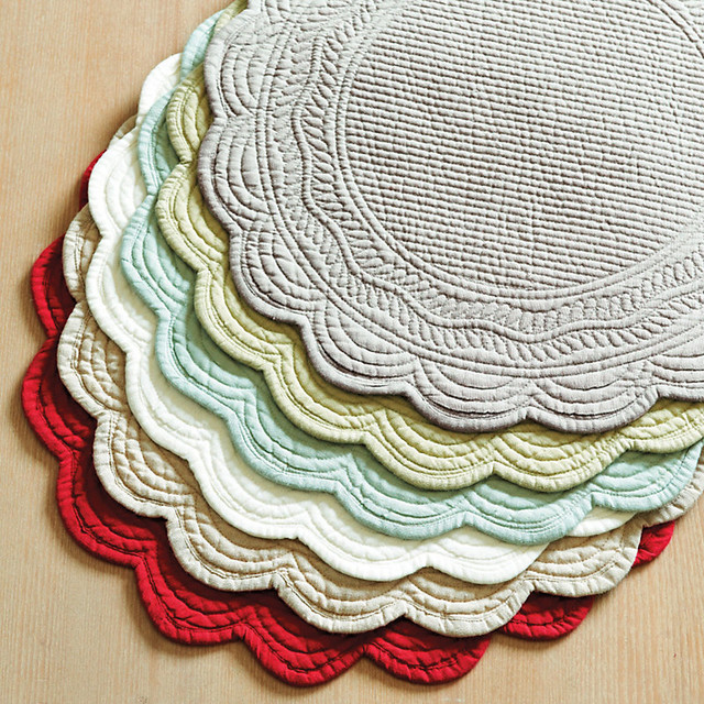 Superb Round Quilted Table Placemats Pattern Pictures To Pin On