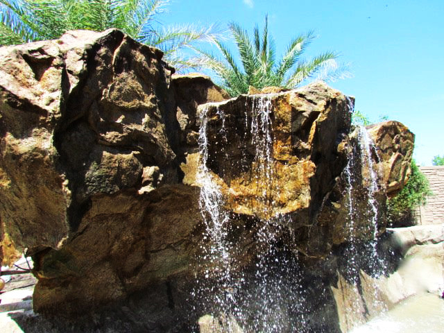 Stand Alone Water Features tropical-outdoor-fountains-and-ponds