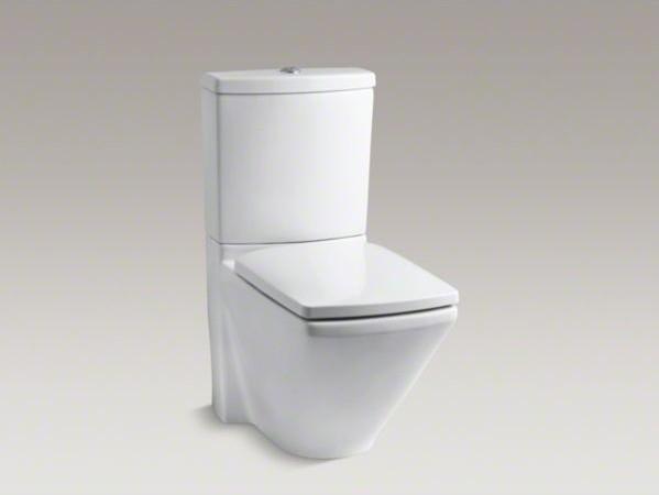 KOHLER Escale(R) two-piece elongated dual-flush toilet with top actuator contemporary-toilets