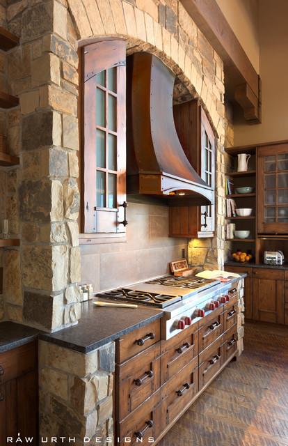 Range Hoods rustic-kitchen