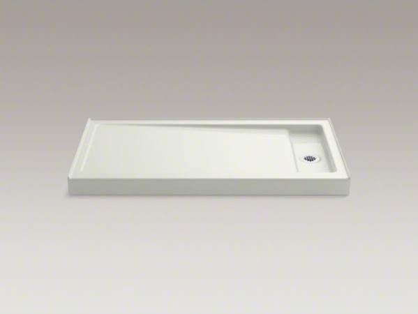 """KOHLER Bellwether(R) 60"""" x 32"""" single-threshold shower base with right center dr contemporary-shower-pans-and-bases"""
