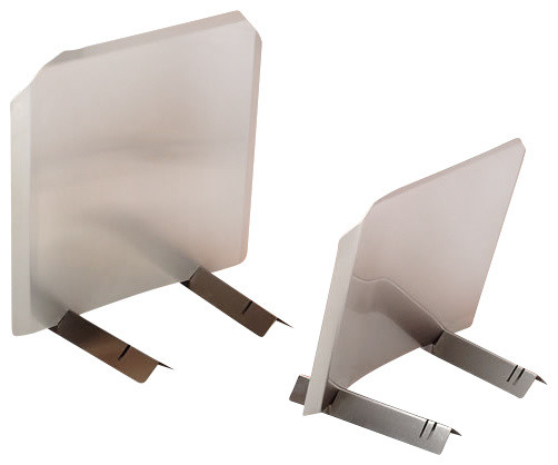 """Radiant Fireback, Stainless, 24""""W X 24""""H, 14-Ga. 304-Alloy modern-fireplace-accessories"""