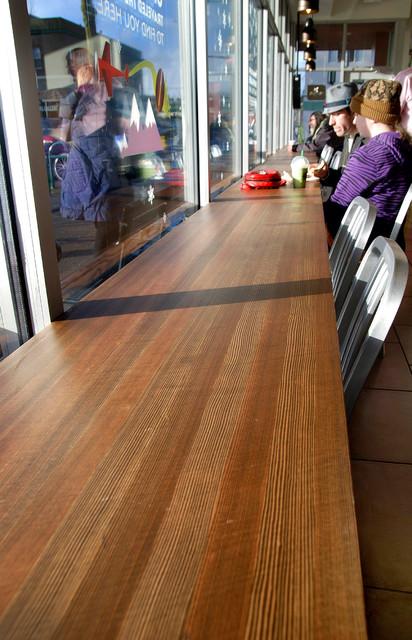 Reclaimed douglas fir countertops modern kitchen for Reclaimed fir flooring seattle