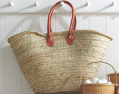 Leather Handled Market Tote traditional-accessories-and-decor
