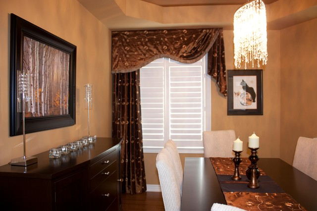 Colour consultation, Shutters, Blinds & Drapery  dining room