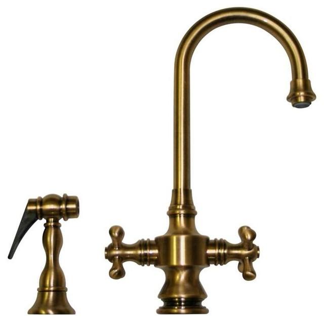 whksdcr3 8104 abras antique brass faucet rustic